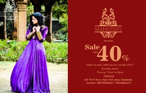 Upto 40% OFF on wedding, occasion & casual wear @ MAHOTSAV!