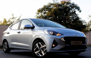 First look of the all new compact sedan by Hyundai - Aura
