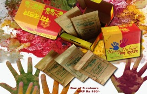 Natural Color Powders Made of Veg Pigments For A Safe Holi