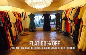FLAT 50% OFF on all genres of glorious apparels at MYRA!