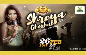 4 more days to go for SHREYA GHOSHAL LIVE! Book now!