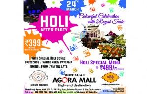 Celebrate the Festival of colours at SHREE BALAJI AGORA MALL