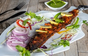 Tandoori seafood grilled to perfection at BOTTLE STREET!!