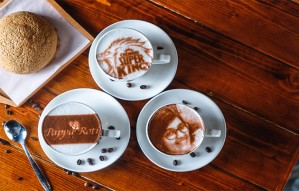 Surprise your loved one with their face printed on coffee!