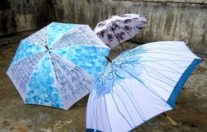 Hand painted Umbrellas for this Monsoon !