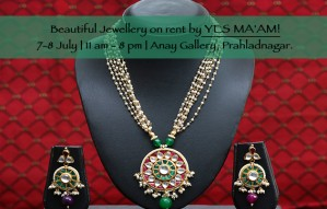 Beautiful Jewellery on rent by YES MA'AM at Anay Gallery