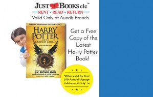 Free Harry Potter Book 8 with Sign Ups at Just Books Aundh!