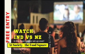 India Vs New Zealand at your favorite Food Truck park