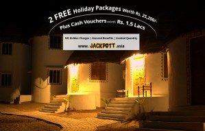 FREE Gift Vouchers worth Rs 1.5 lacs. with JACKPOTT