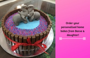 Order your personalised home bakes from Barve & daughter!