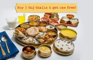 AAGRAH's special family offer: Buy 3 Thalis and get 1 FREE!
