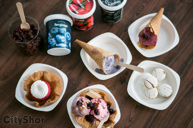 Berry yourself in Sorbets, Yogurt and Macarons
