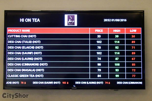 HI ON TEA's gloriously high on taste menu!