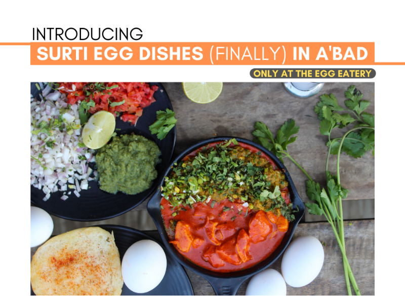 Surti Egg delicacies in Ahmedabad only at The Egg Eatery