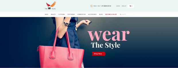 W-Trunk online portal for Women
