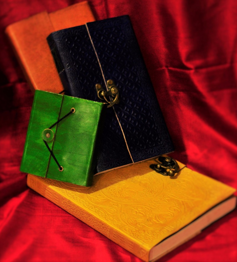 CHAHAL PEHAL - Embossed Handmade Leather Diaries