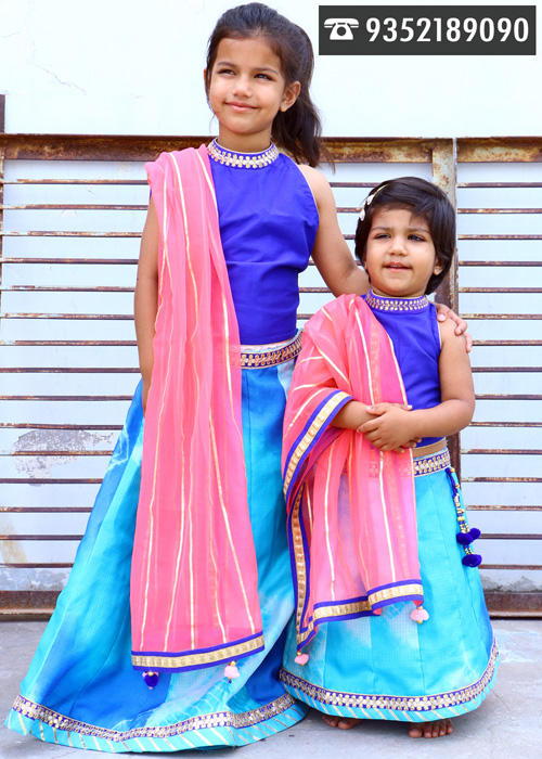 Witness a huge collection of traditional wear for kids