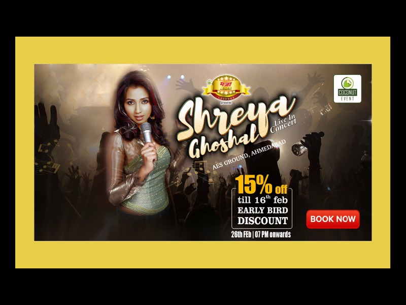 Shreya Ghoshal live In concert this February in Ahmedabad!
