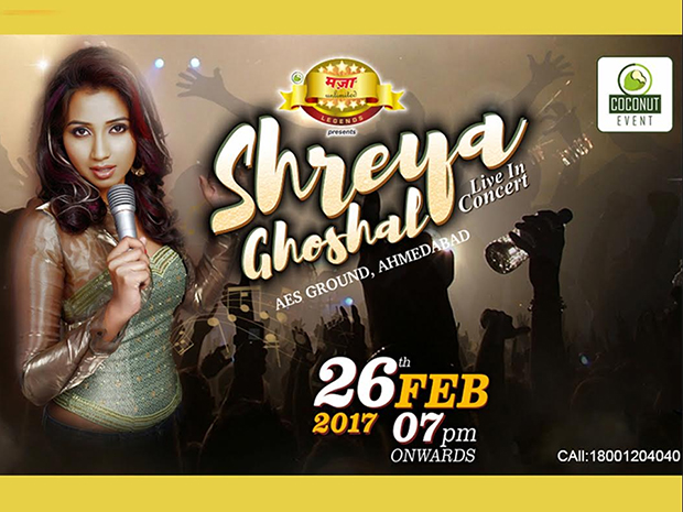 Witness SHREYA GHOSHAL LIVE IN CONCERT in just two days!