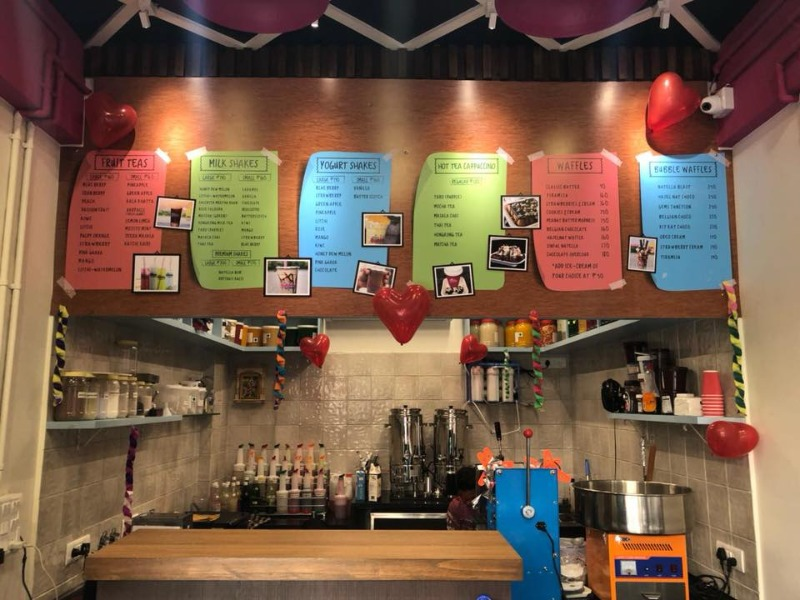Refresh yourself with bubble teas and waffles at Dr. Bubbles