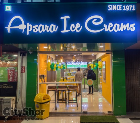 MUMBAI'S famous APSARA ICE CREAMS is now in AHMEDABAD!