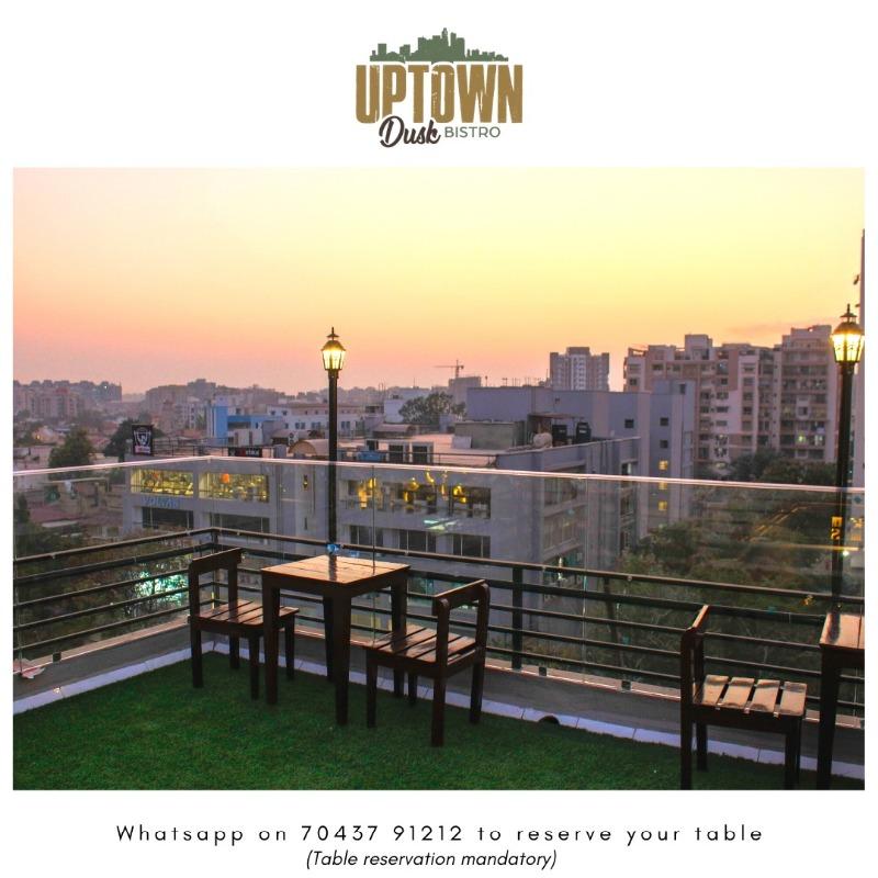 New rooftop on Shyamal Shivranjani Road- Uptown Dusk Bistro