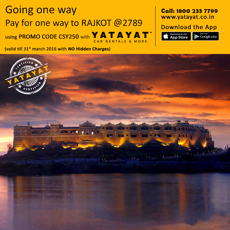Going 1 way, pay for 1 way to RAJKOT with YATAYAT