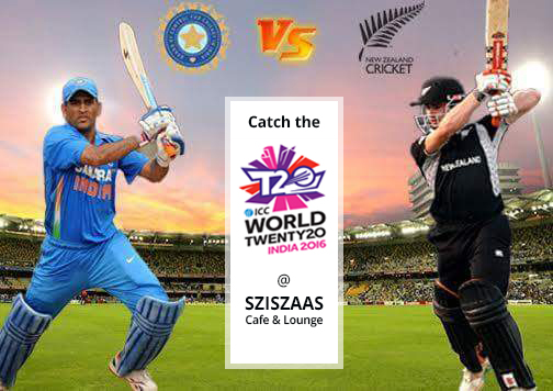Catch the ICC T20 WORLD CUP at SZISZAAS CAFE & LOUNGE