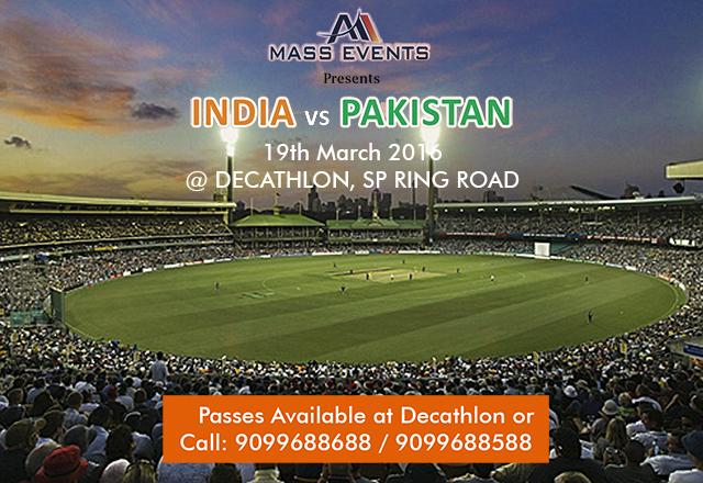 Catch India vs Pakistan at DECATHLON AHMEDABAD
