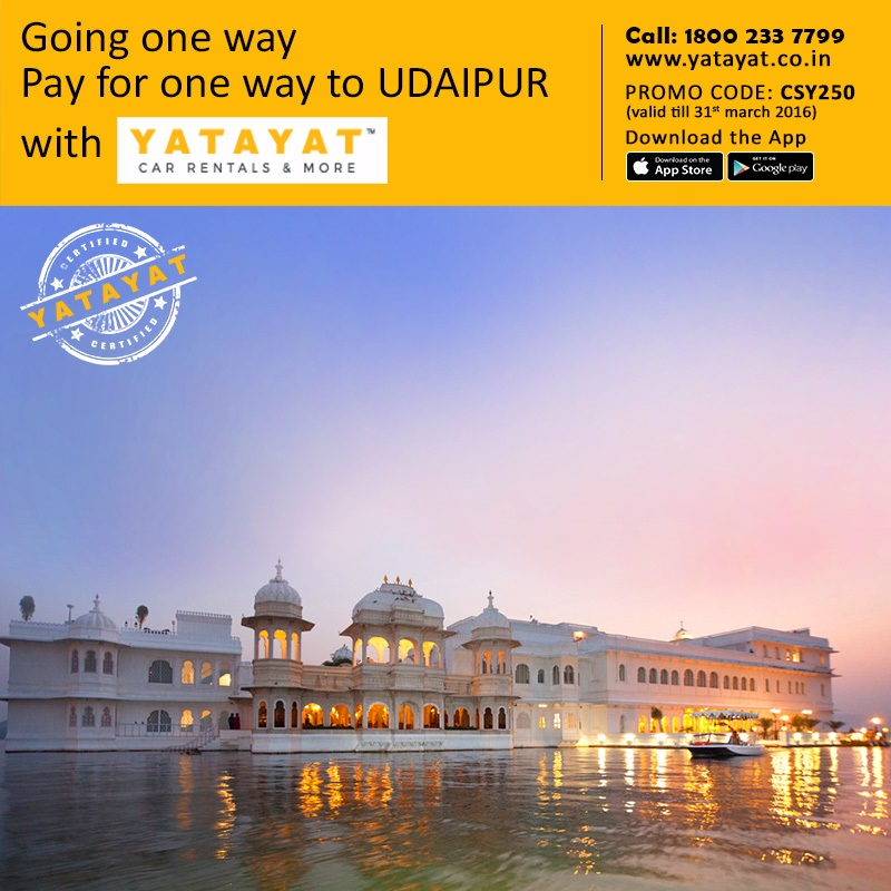 Going one way? Pay for one way to UDAIPUR, with YATAYAT