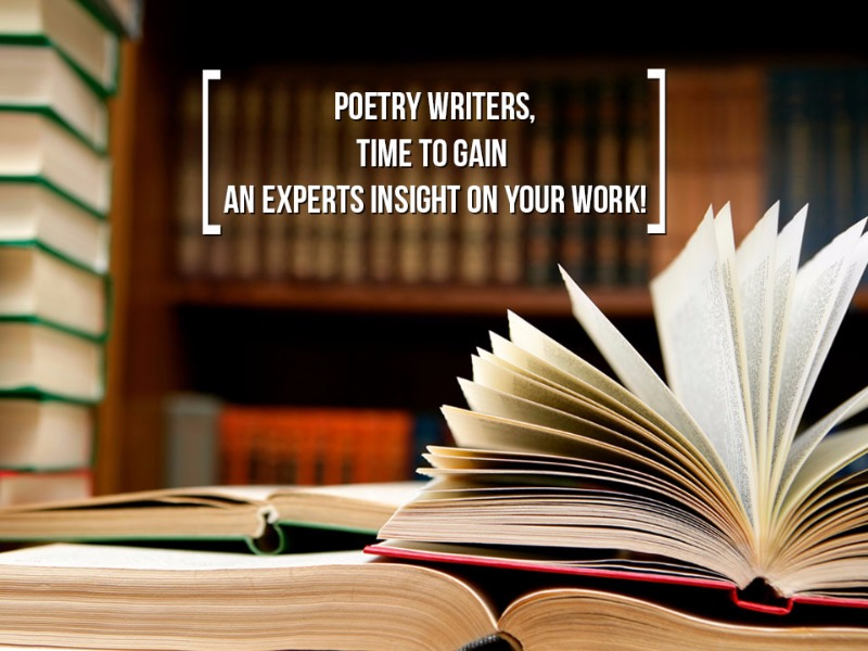 Poetry lovers, showcase your work with help of an expert