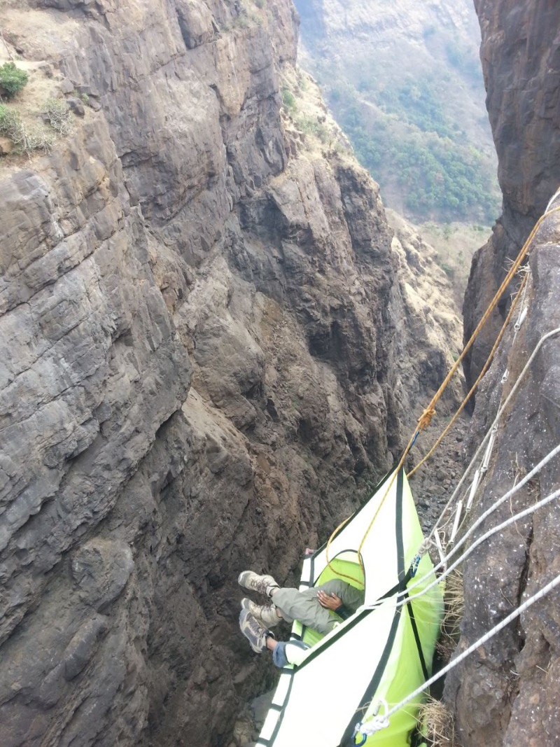 Get High on Adrenaline @ Cliff Hanging Tent C&ing! & High on Adrenaline @ Cliff Hanging Tent Camping!