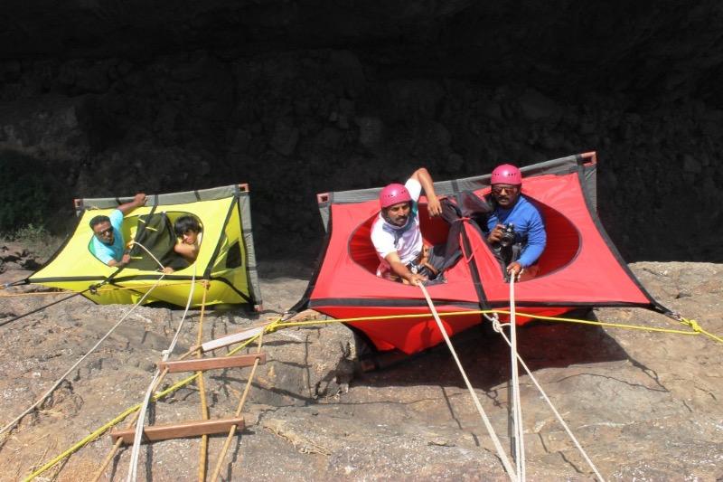 Get High on Adrenaline @ Cliff Hanging Tent C&ing! & High on Adrenaline @ Cliff Hanging Tent Camping!