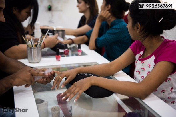 Get your nails groomed in a professional Nail Spa Studio!