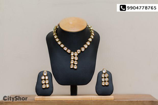 Latest Kundan jewellery only @ Bhawani Bangles