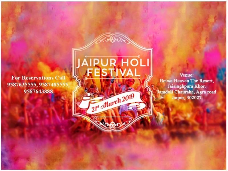 The biggest Jaipur Holi Festival