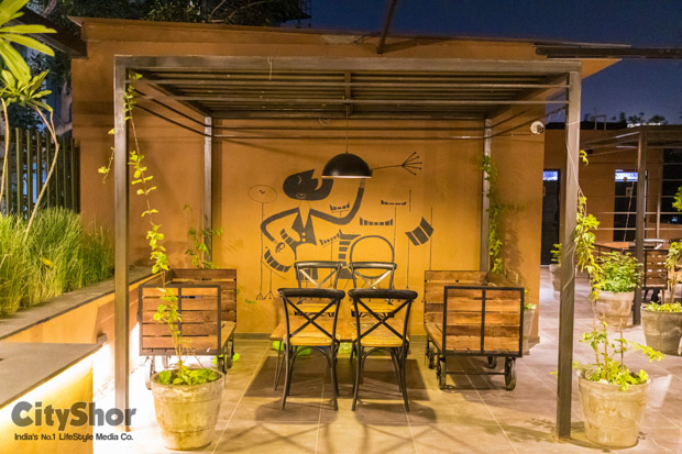 Open to sky cafe on SG Highway - The Global Adda