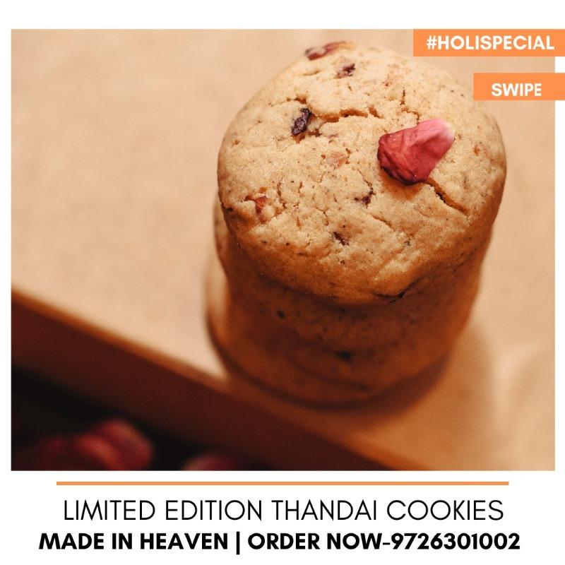 Serve Freshly Baked Thandai Cookies with Hot Masala Tea.