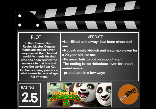 Movie Review: KUNG FU PANDA 3