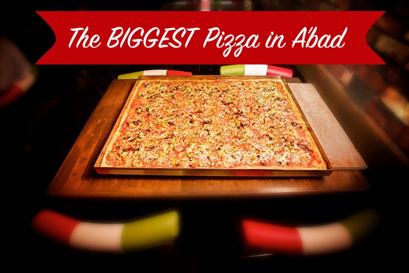 The Biggest Pizza in Ahmedabad at CAFE SOHO