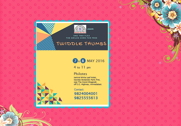 Be a part of TWIDDLE THUMBS: Unique Flea to raise funds