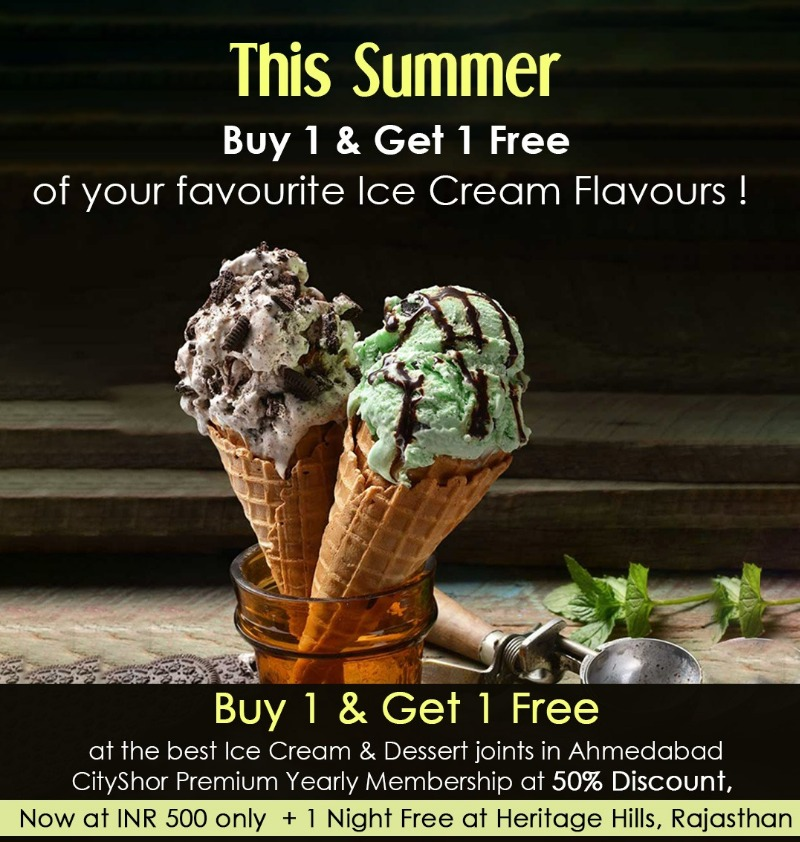 BOGO Buy One Get One Free at 165 restaurants in Ahmedabad