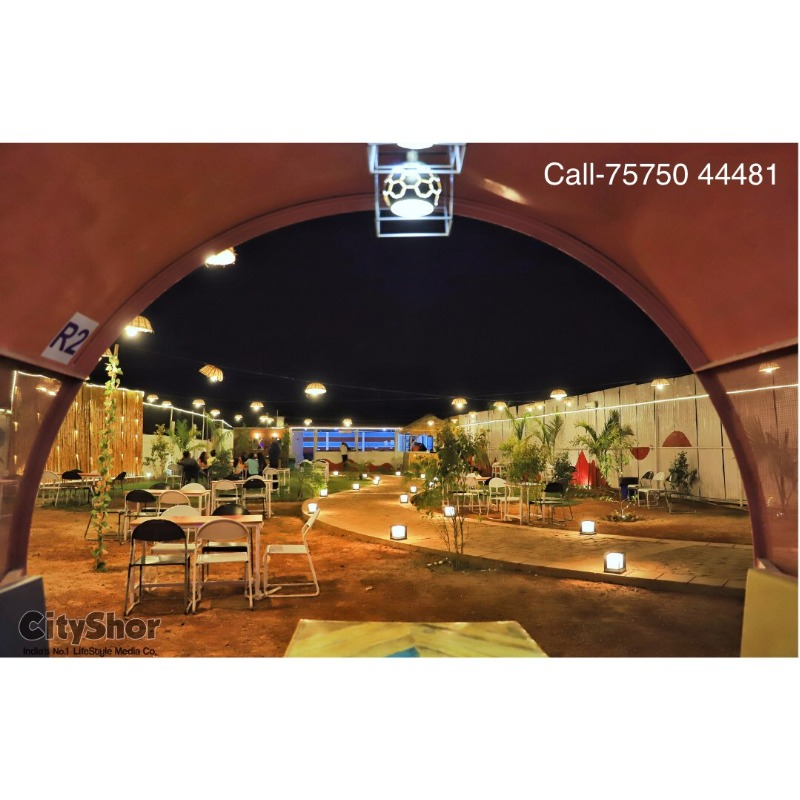 An open air setup with Apna Adda's Signature BBQ rolls Wraps