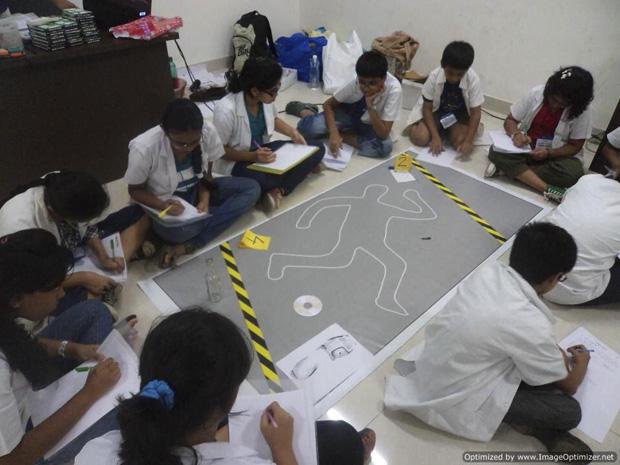 CRIME SCENE INVESTIGATION CAMP FOR KIDS