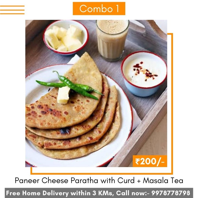 Delicious Range of food combos, home delivered by Pehar