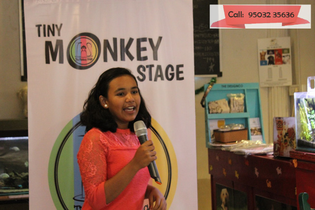 Make public speaking fun for kids with Tiny Monkey Stage!