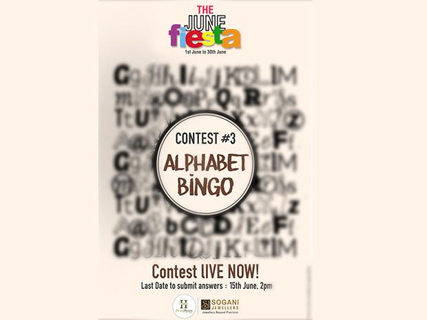 Contest 3: Alphabet Bingo, Play Now!