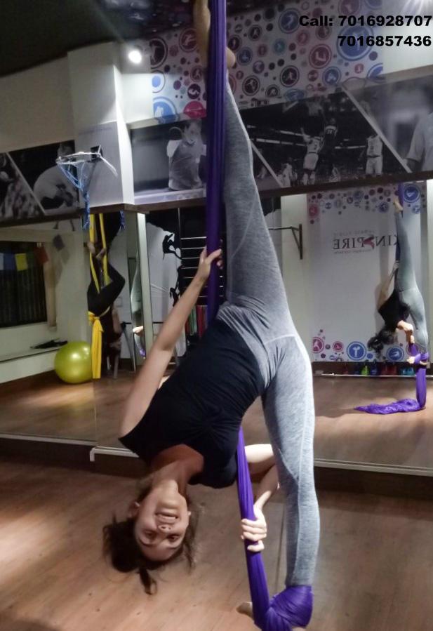 Learn the art of Aerial Silk @ Infinity Dance Studio