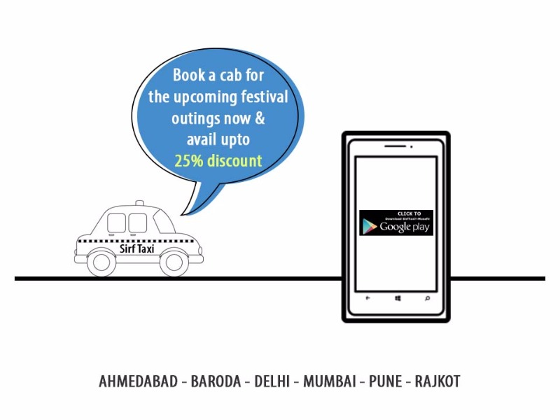 Book a cab for the upcoming festival outings at upto 25% off
