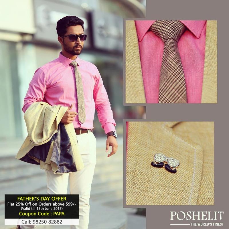 25% OFF on Men's Accessories by Poshelit!